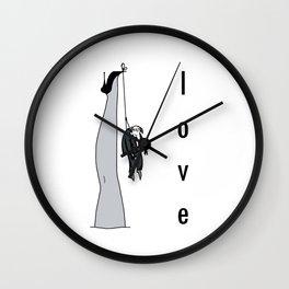 the woman's leg . love . art . Wall Clock