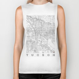 Tucson Map Line Biker Tank