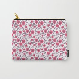 Pink & Purple Blooms Carry-All Pouch