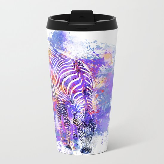 Crazy Zebra Metal Travel Mug