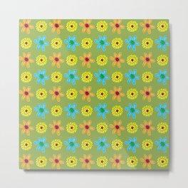 Groovy 70's Flower Power Metal Print