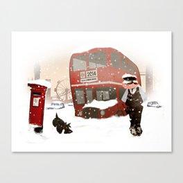 London in snow Canvas Print