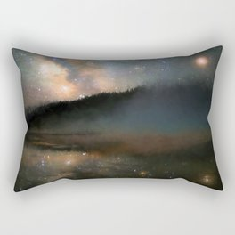 Milky Way Over Yellowstone Rectangular Pillow