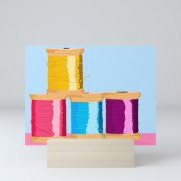 Spools Of thread Mini Art Print