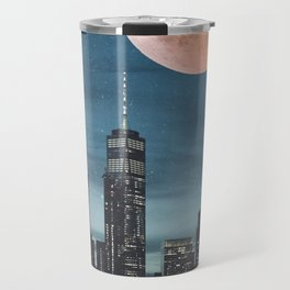 New York City Blood Moon Skyline Travel Mug