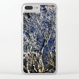 Earth Meets Sky Treescape Clear iPhone Case