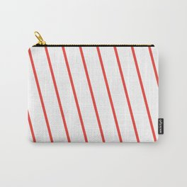 Yacht style. Red diagonal stripes. Carry-All Pouch