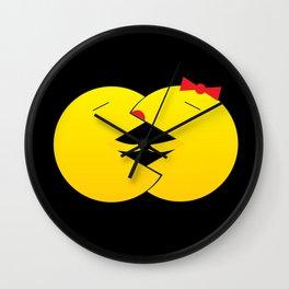 Packman love Wall Clock