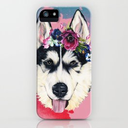 Flower Power  puppy iPhone Case