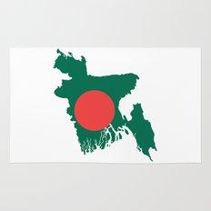 Bangladesh flag map Rug