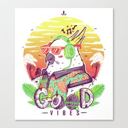 Polly Wants Some Good Vibes Canvas Print