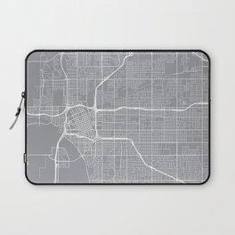 Tulsa Map, Oklahoma USA - Pewter Laptop Sleeve