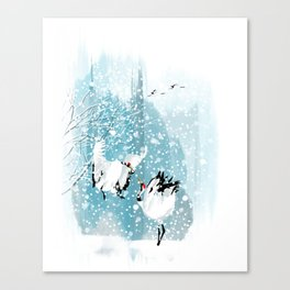 Dancing in the snow Canvas Print