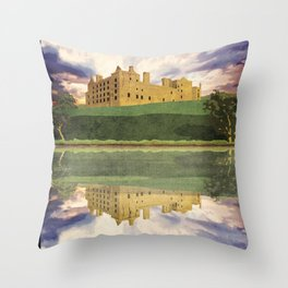 Linlithgow Castle and Lake, Scotland Throw Pillow