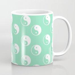 Yin & Yang (White & Mint Pattern) Coffee Mug