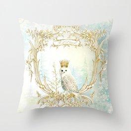 Owl Let it Snow Throw Pillow
