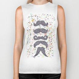 mustache power Biker Tank