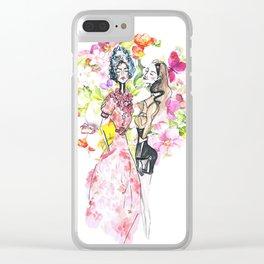 Miu Miu Fashion Sketch Clear iPhone Case