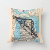 michigan Throw Pillows featuring Michigan by Ursula Rodgers