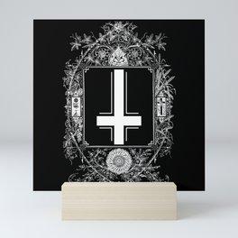 Occult Gothic Mirror With Antichrist Cross Mini Art Print