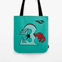 infamous Tote Bags featuring inFamous ohm by iRa.