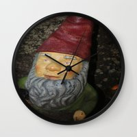 gnome Wall Clocks featuring Gnome by alexarayy