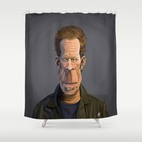 celebrity Shower Curtains featuring Celebrity Sunday ~ Tom Waits by rob art | illustration