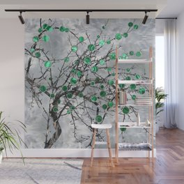 Abstract Gemstone and  Malachite Tree Wall Mural