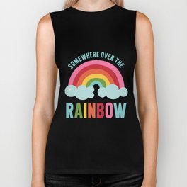 Somewhere Over the Rainbow Biker Tank