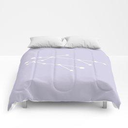 Gemini Zodiac Constellation - Lavender Comforters