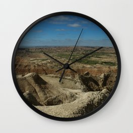 Amazing Badlands Overview Wall Clock