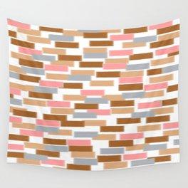Pink Bricks Wall Tapestry