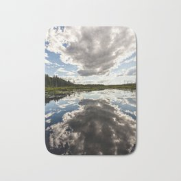 clouds reflecting Bath Mat