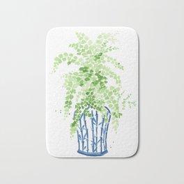 Ginger Jar + Maidenhair Fern Bath Mat