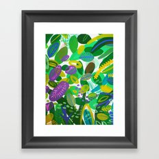 Between the branches. III Framed Art Print