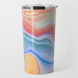 Liquid Rainbow Agate Gem Travel Mug
