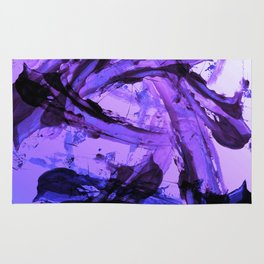 Ferocious And Calming Lavender Abstract Rug