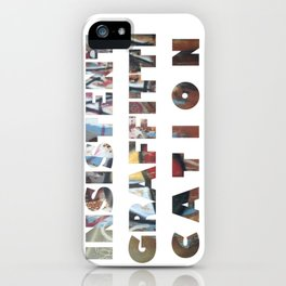INSISTENT GRAFFITTICATION trans iPhone Case