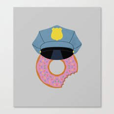 Officer Donut Canvas Print