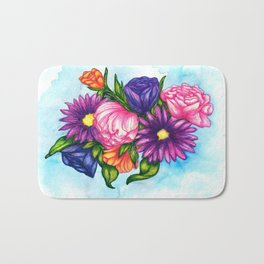Summer Bouquet Bath Mat