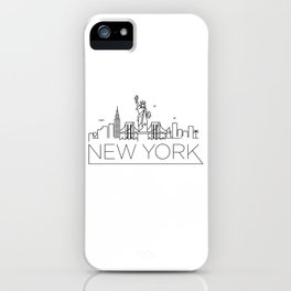 Minimal New York Skyline Design iPhone Case