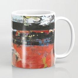 Jacksonville Orange Abstract Painting Coffee Mug