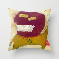 hero Throw Pillows featuring Hero by Sasa Jantolek