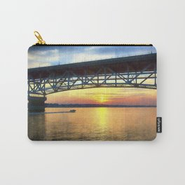 Sunset Under the Coleman Bridge Carry-All Pouch