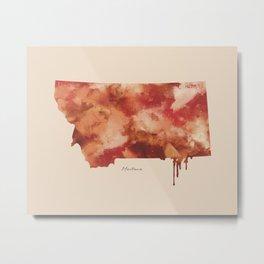 Montana Watercolor State Metal Print