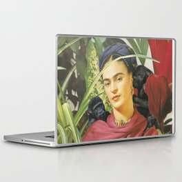 Frida Kahlo - Self portrait with monkeys recreated Laptop & iPad Skin
