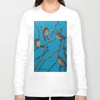 converse Long Sleeve T-shirts featuring Sparrows Converse by Suzy Kitman Fine Art