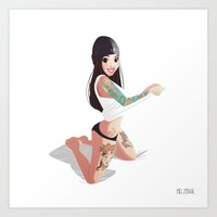 valentina Art Prints featuring Valentina by MelZohar