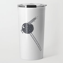 Lollipop with stars and with a meteorite Travel Mug