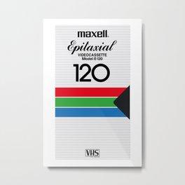 MAXELL VHS Metal Print